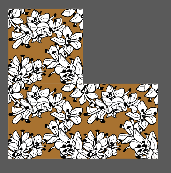 The pattern from above duplicated on the top and on the right side, to demonstrate the pattern being seamless.